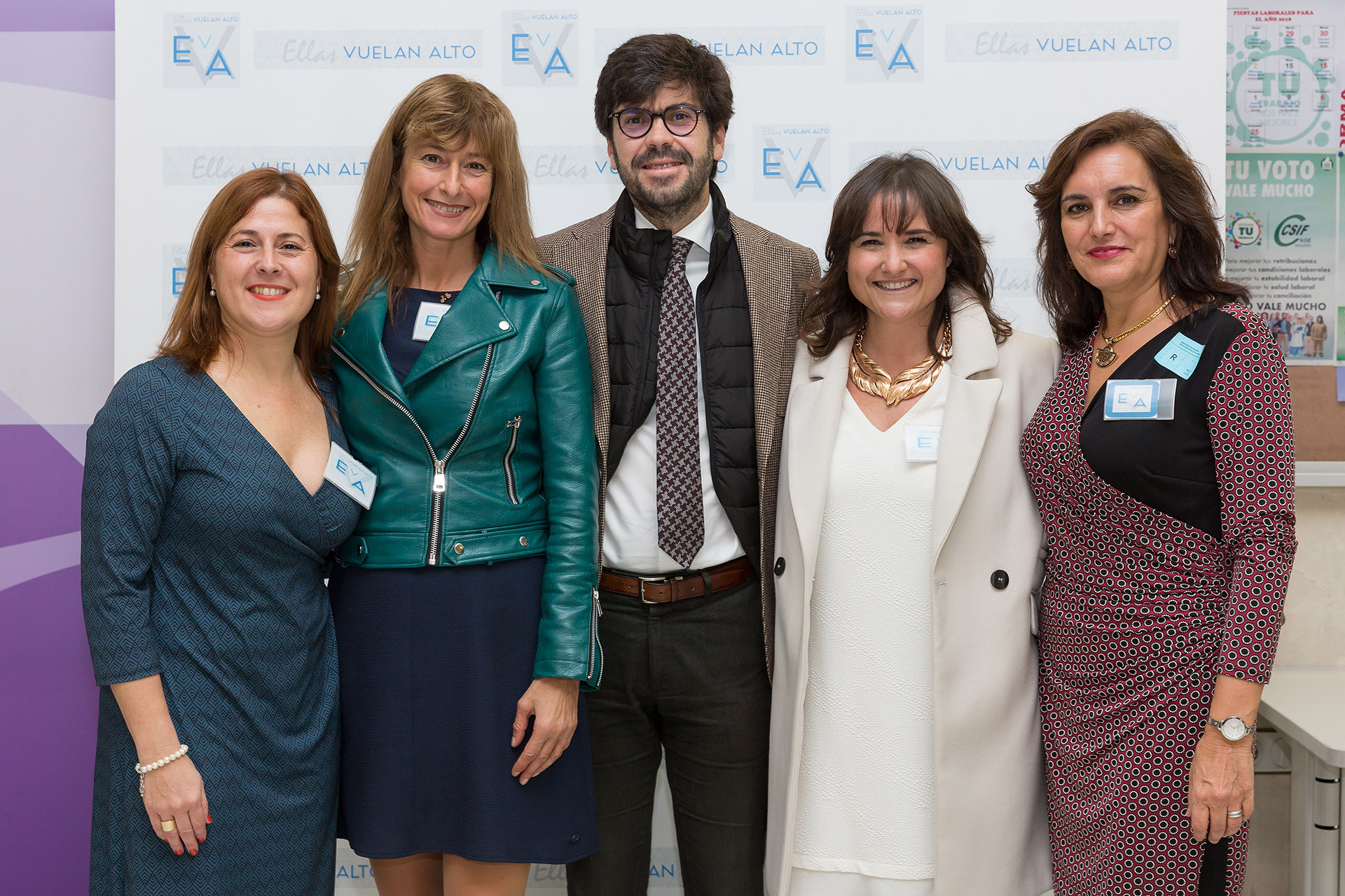Parte del equipo fundador de EVA con uno de nuestros invitados
