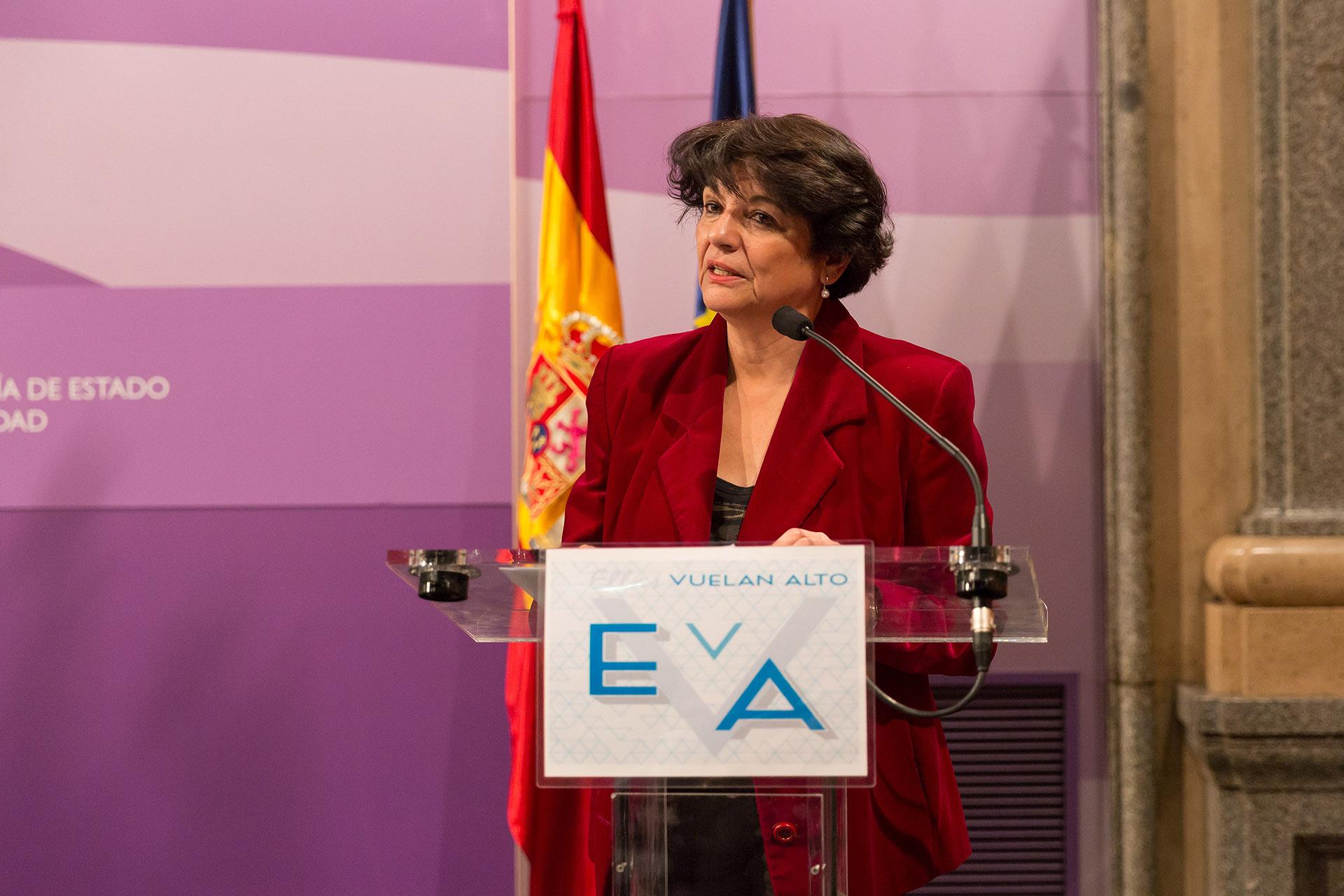 Soledad Murillo, secretaria de Estado de Igualdad, inauguró la jornada de EVA.