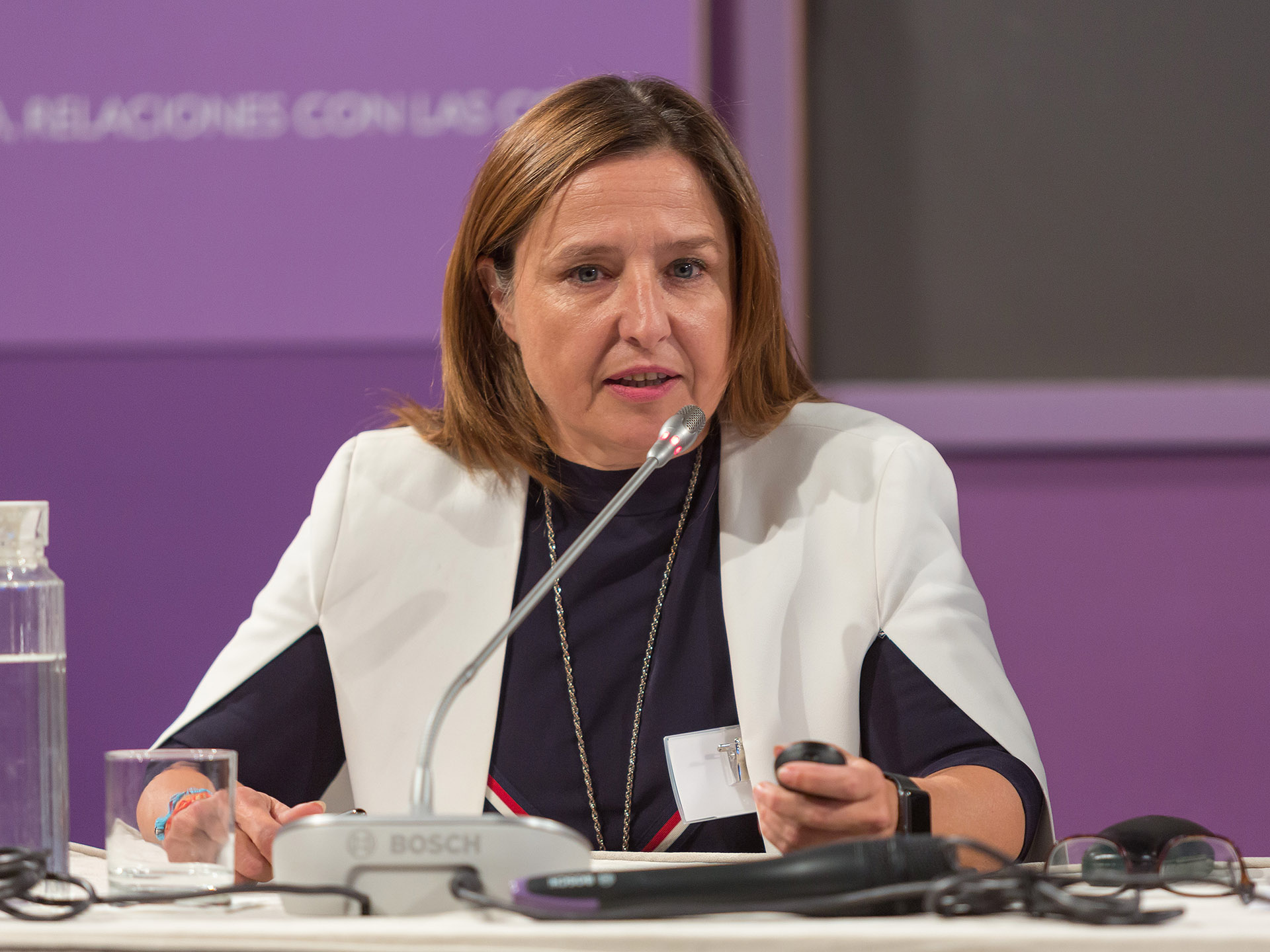 Cristina de Bustos, tesorera del COIAE y directora general de CITD centró su intervención en la importancia del emprendimiento.